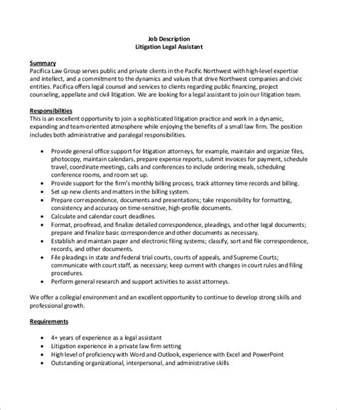 Job description legal assistant resume jpg 600x730